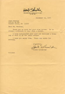 HOWIE SCHNEIDER - TYPED LETTER SIGNED 12/16/1977