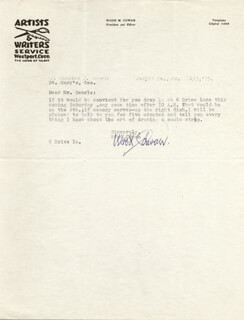 WOOD COWAN - TYPED LETTER SIGNED 12/03/1975
