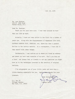 GEORGE DAVIS - TYPED LETTER SIGNED 10/20/1976