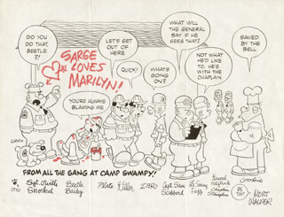 MORT WALKER - INSCRIBED PRINTED ART SIGNED IN INK