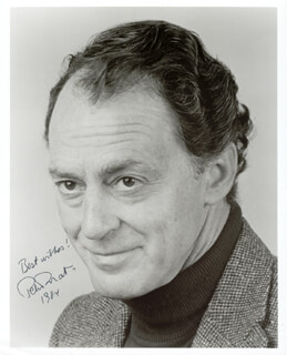 PETER DONAT - AUTOGRAPHED SIGNED PHOTOGRAPH 1984