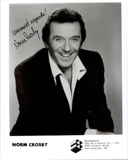 NORM CROSBY - AUTOGRAPHED SIGNED PHOTOGRAPH