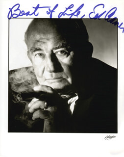 ED ASNER - AUTOGRAPHED SIGNED PHOTOGRAPH