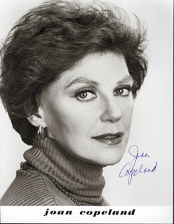 JOAN COPELAND - AUTOGRAPHED SIGNED PHOTOGRAPH