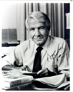 HARRY REASONER - AUTOGRAPHED SIGNED PHOTOGRAPH