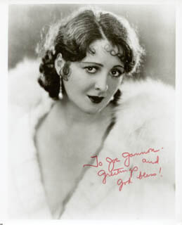 BILLIE DOVE - INSCRIBED PHOTOGRAPH UNSIGNED