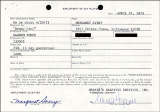 MARGARET AVERY - DOCUMENT SIGNED