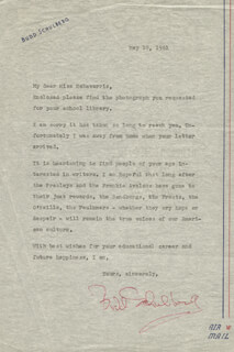 BUDD SCHULBERG - TYPED LETTER SIGNED 05/10/1961
