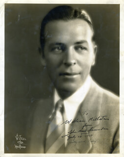 JOHN MONK SAUNDERS - AUTOGRAPHED INSCRIBED PHOTOGRAPH 07/28/1928