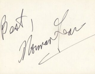 NORMAN LEAR - AUTOGRAPH SENTIMENT SIGNED