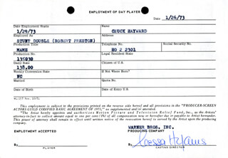 NESSA HYAMS - ONE DAY MOVIE CONTRACT SIGNED