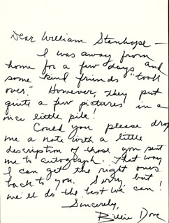 BILLIE DOVE - AUTOGRAPH LETTER SIGNED
