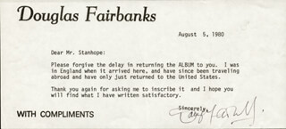 DOUGLAS FAIRBANKS JR. - TYPED LETTER SIGNED 08/05/1980