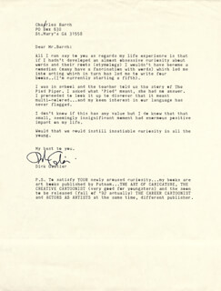 DICK GAUTIER - TYPED LETTER SIGNED