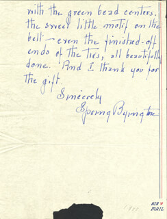 SPRING BYINGTON - PARTIAL AUTOGRAPH LETTER SIGNED