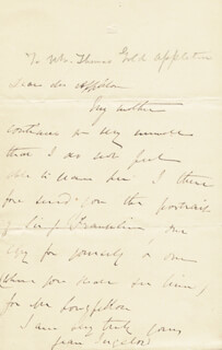 JEAN INGELOW - AUTOGRAPH LETTER SIGNED