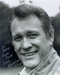 EARL HOLLIMAN - AUTOGRAPHED INSCRIBED PHOTOGRAPH 08/12/1990