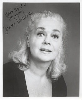 JUNE HAVOC - AUTOGRAPHED SIGNED PHOTOGRAPH