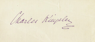 CHARLES KINGSLEY - AUTOGRAPH