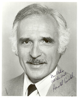HAROLD GOULD - AUTOGRAPHED INSCRIBED PHOTOGRAPH