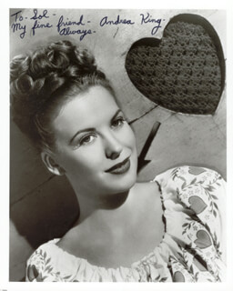 ANDREA KING - AUTOGRAPHED INSCRIBED PHOTOGRAPH