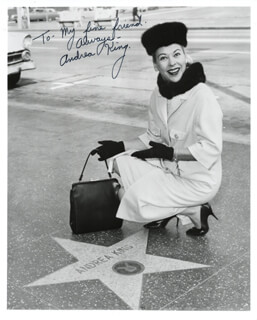 ANDREA KING - AUTOGRAPHED SIGNED PHOTOGRAPH