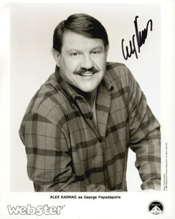 Autographs: ALEX KARRAS - PRINTED PHOTOGRAPH SIGNED IN INK