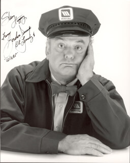 GORDON JUMP - AUTOGRAPHED SIGNED PHOTOGRAPH