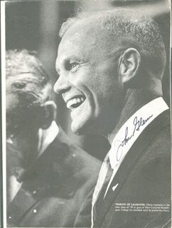 JOHN GLENN - MAGAZINE PHOTOGRAPH SIGNED