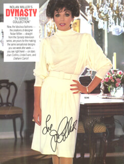 JOAN COLLINS - MAGAZINE ADVERTISEMENT SIGNED