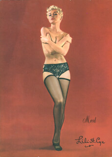 Autographs: LILI ST. CYR - ILLUSTRATION SIGNED