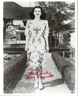 JOAN BENNETT - AUTOGRAPHED INSCRIBED PHOTOGRAPH