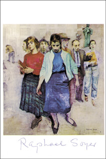 RAPHAEL SOYER - PRINTED ART SIGNED IN INK