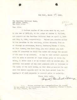 MICHAEL (BLANCHE OELRICHS) STRANGE - TYPED LETTER SIGNED 03/13/1929