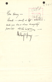 MICHAEL (BLANCHE OELRICHS) STRANGE - AUTOGRAPH LETTER SIGNED 10/28/1929 CO-SIGNED BY: HENRY ROOT STERN