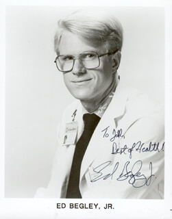 ED BEGLEY JR. - AUTOGRAPHED INSCRIBED PHOTOGRAPH