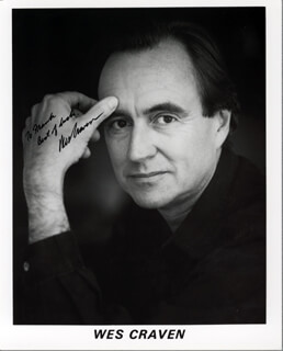 WES CRAVEN - INSCRIBED PRINTED PHOTOGRAPH SIGNED IN INK