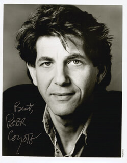 PETER COYOTE - AUTOGRAPHED SIGNED PHOTOGRAPH