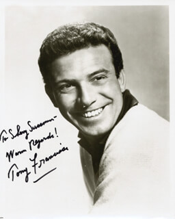 ANTHONY FRANCIOSA - AUTOGRAPHED INSCRIBED PHOTOGRAPH