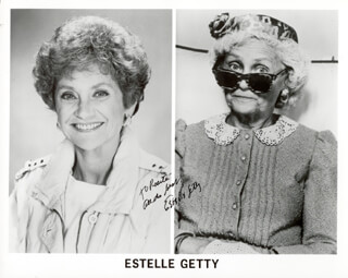 ESTELLE GETTY - AUTOGRAPHED INSCRIBED PHOTOGRAPH