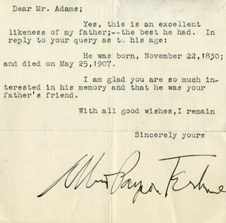 ALBERT PAYSON TERHUNE - TYPED LETTER SIGNED
