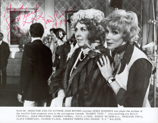 JOAN RIVERS - INSCRIBED PRINTED PHOTOGRAPH SIGNED IN INK 1979