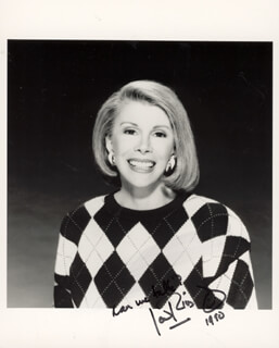 JOAN RIVERS - AUTOGRAPHED SIGNED PHOTOGRAPH 1990