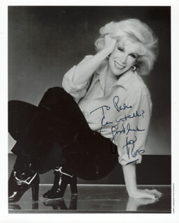 JOAN RIVERS - AUTOGRAPHED INSCRIBED PHOTOGRAPH