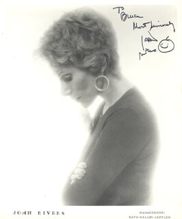 JOAN RIVERS - INSCRIBED PRINTED PHOTOGRAPH SIGNED IN INK