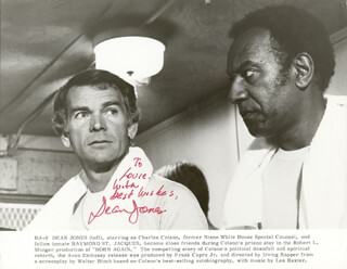 DEAN JONES - INSCRIBED PRINTED PHOTOGRAPH SIGNED IN INK