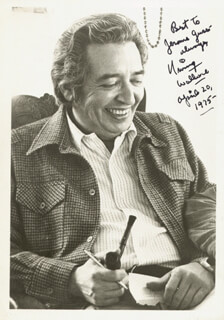 IRVING WALLACE - AUTOGRAPHED INSCRIBED PHOTOGRAPH 04/20/1975