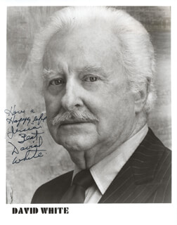 DAVID WHITE - AUTOGRAPHED INSCRIBED PHOTOGRAPH