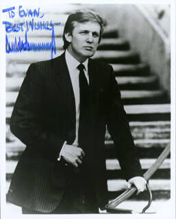 DONALD J. TRUMP - AUTOGRAPHED INSCRIBED PHOTOGRAPH