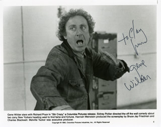 GENE WILDER - AUTOGRAPHED INSCRIBED PHOTOGRAPH